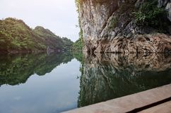 Fantastic mountain lake in Thailand national park in summer Royalty Free Stock Image