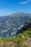 Fantastic mountain range. Place of the famous place Durmitor National Park, Balkans. The village of Zabljak, Montenegro Europe Stock Photo