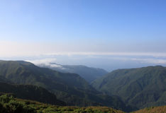 Fantastic Mountain View in Madeira. Portugal Royalty Free Stock Photography