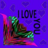 For those who love and who want to be loved by this picture - a pattern. stock illustration