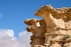 Desert stone sculptures royalty free stock photo