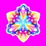 Fantastic neon flower, abstract shape with lots of blending lines. Fantastic neon flower icon, abstract shape with lots of blending lines and gradient color Vector Illustration