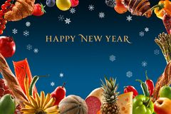 Fantastic New Year's Eve dinner Royalty Free Stock Images