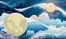 Fantastic night sky. Royalty Free Stock Image
