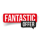 Fantastic offer label red Stock Photos