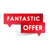 Fantastic offer label red vector Royalty Free Stock Photo