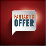 Fantastic offer old retro vintage vector illustration