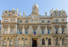 Fantastic old building in Lyon Stock Photography