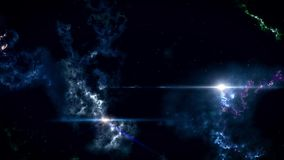 Fantastic outer space with stars and clusters of celestial bodies. Lots of vokurug stars.
