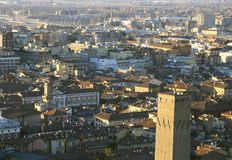 Fantastic panoramic views of the city of Bologna Stock Photography