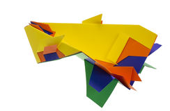 Fantastic paper airplane Royalty Free Stock Image