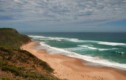 Fantastic paradise wild beach. Great Ocean Road, Australia, Victoria, National park stock image