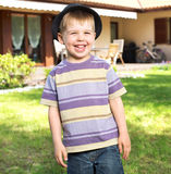 Fantastic picture of laughing kid Royalty Free Stock Photos