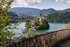 Fantastic place in Slovenia Royalty Free Stock Photography