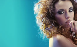 Fantastic portrait of a sensual woman Stock Photography
