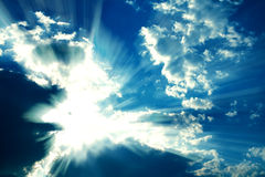 Fantastic rays royalty free stock images