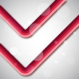 Fantastic red lines. Beautiful illustration Royalty Free Stock Photo