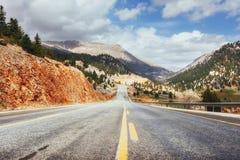 Fantastic road in the mountains. Carpathians. Ukraine. Europe Royalty Free Stock Photos