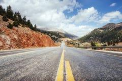 Fantastic road in the mountains. Carpathians. Ukraine. Europe Stock Image