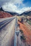 Fantastic road in the mountains. Carpathians. Ukraine. Europe Stock Images