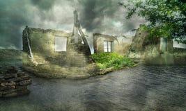 Fantastic ruins Stock Images