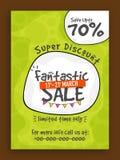 Fantastic Sale Flyer, Poster or Banner design. Stock Image
