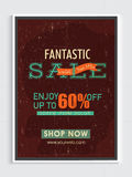 Fantastic Sale Poster, Banner or Flyer Design. Royalty Free Stock Photography