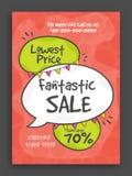Fantastic Sale Poster, Banner or Flyer design. Stock Photography
