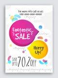 Fantastic Sale Poster, Banner or Flyer design. Royalty Free Stock Photo