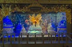 Fantastic scene in showcase. Paris, France. Royalty Free Stock Photography