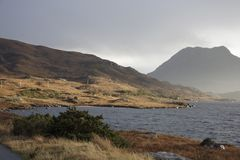 Fantastic scenery at Loch Bad a Gail. Scenery around Loch Bad a Gail in Scotland Stock Image