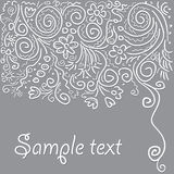 Fantastic scroll Background. Vector. Royalty Free Stock Photography