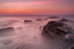 Fantastic Seascape Rosy In Blurred Water. Stock Images