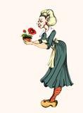 Fantastic servant. Cheerful servant from a fairy tale Stock Photos