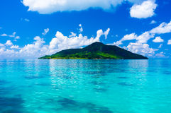 Fantastic Seychelles island - paradise - view from the sea Stock Images