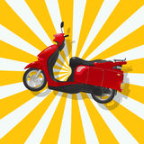 The fantastic shiny red scooter Royalty Free Stock Images