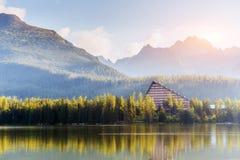 Fantastic Shtrbske Pleso High Tatras. Slovakia, Europe. Royalty Free Stock Images