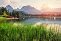 Fantastic Shtrbske Pleso High Tatras. Slovakia, Europe Stock Images