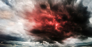 Fantastic sky presages apocalypse Stock Photography