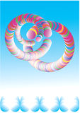 Fantastic snakes. Fantastic multi-coloured snakes.No Mesh. color Mode: CMYK color Stock Images
