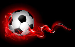Fantastic soccer background Stock Images