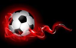 Fantastic soccer background Stock Images