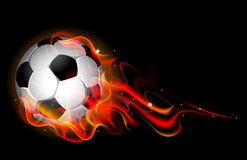 Fantastic soccer background Stock Photography