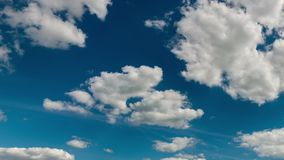 Fantastic clouds against blue sky, panorama stock video
