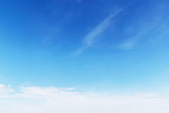 Fantastic soft white clouds against blue sky Royalty Free Stock Photo