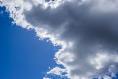 Fantastic soft white clouds against blue sky abstract background Stock Image