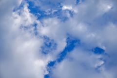 Fantastic soft white clouds against blue sky abstract background Royalty Free Stock Photo