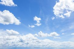 Cloudscape with Blue Sky Stock Photography