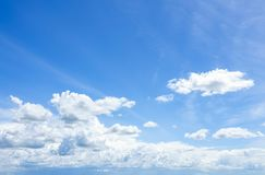 Cloudscape with Blue Sky stock photos