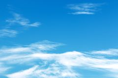 Fantastic soft white clouds against blue sky Royalty Free Stock Image